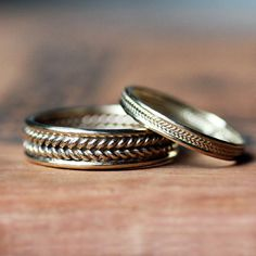 braided wheat bands - recycled gold