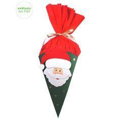 Bastelset Nikolaustüten, ca 23 cm hoch, mit Anleitung