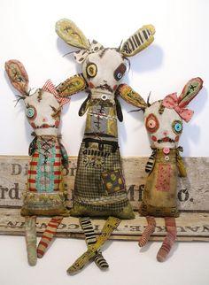 Junker Jane bunny dolls