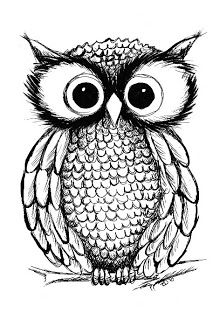 This owl is so cute! I really would love to get an owl tattoo Owl Illustration, Illustrations, Owl Art, Cute Owl, Doodle Art, Owl Doodle, Painting & Drawing, Drawing Now, Drawing Ideas