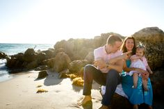 Family time is a wonderful thing to capture. . . Think of other times to do family photos besides just Christmas! Spring and Summer are great outdoor times to share with everyone. Family portraits at the beach, Posing a family of three, Family photos with a toddler, Outdoor family pictures