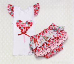 Christmas 2013 Lolly pop singlet and ruffle nappy cover set size 000,00,0,1,2