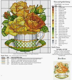 Lú cantinho do bordado e da cozinha: PONTO CRUZ (FLORES,JARROS E CESTOS)