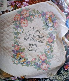 Dimensions-Blessed-With-Love-Quit-Stamped-Cross-Stitch-Kit