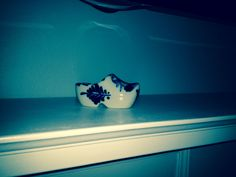 Blue Delft Dutch Shoe found at Ancient Oaks.  $.25    Summer of 2014
