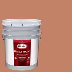 Glidden Premium 5 gal. #HDGO12U Dusty Terra Cotta Flat Interior Paint with Primer