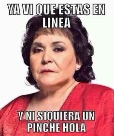 Cuando alguien te ignora en internet: | 17 Memes de Carmen Salinas que puedes usar para cualquier ocasión