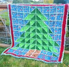 OH Christmas Tree Rag Quilt