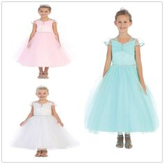 Princess Dress For Girl 2015 Cheap New A Line Lace Flower Girls Dresses Sheer Short Sleeves Beads Anke Length Jewel Pageant Gowns For Weddings Custom Made Red Flower Girl Dress From Rieshaneeawedding, $65.97| Dhgate.Com