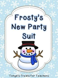 Frosty's New Suit product from Tonyas-Treats-4-Teachers on TeachersNotebook.com