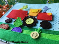 TRACTOR PDF Quiet Book Felt Busy Book Toddler book