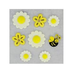 Daisies Rhinestones Flowers DRESS IT UP Buttons Pocketful Of Posies 4836