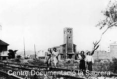 """Fotos antigues de la Plaça de l'Església de la Sagrera -més tard, 'Plaça dels Jardins d'Elx'- i que per a molts veïns de la zona encara és """"la placeta""""."""