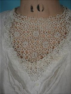 This is a tatted edwardian dress