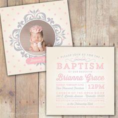 Vintage Elegance Custom Baptism Baby by KimNelsonCreative on Etsy, $20.00