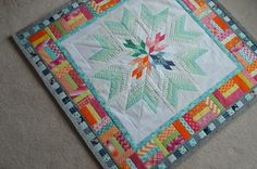 Aviatrix Quilt: The Second Border - Color Girl Quilts by Sharon McConnell