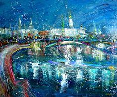 "Saatchi Art Artist Anastasia Kachina; Painting, ""Moskow"" #art"