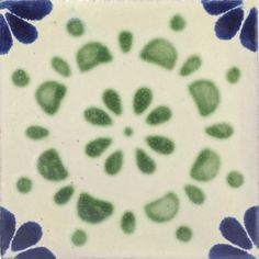 Talavera Tiles From Mexico | Green Rocio Talavera Mexican Tile