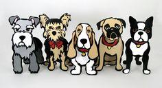 Marc Tetro dogs.  Love!