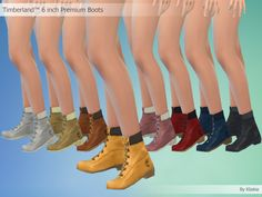 Timberland 6 inch Premium Boots By Kliekie #Download #Sims4 #TS4 #MM #CC #MMCC #TS4MM #TS4Finds #CustomContent #Sims4CC #Clothing #Casual #Generic #Women #Female #Girls  #YoungAdult #Adult #Elder #Black #White #Grey #Red #Pink #Brown #Yellow #Green #Blue #Multicolor