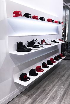 Spaces by Jacflash has created many exclusive pieces for Toronto's favorite men's boutique, on Queen St. West, Get Fresh Co. From the custom cut out bench, to the back lit the shoe and display shelves, Spaces by Jacflash has helped to bring this staple streetwear shop to life.