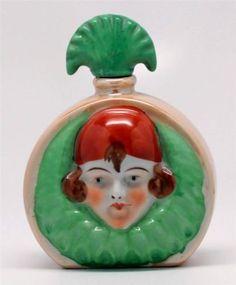 Rare 1920'S ART Deco Handpainted Flapper ON Lusterware Perfume Bottle Made Japan   eBay♥≻★≺♥