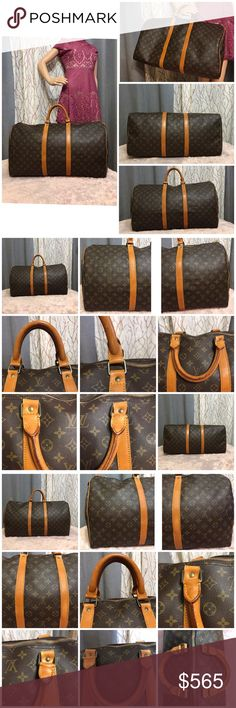 db8ec90dc57e Louis Vuitton keepall 55 100%authentic Beautiful monogram canvas with no  mark, cracks or