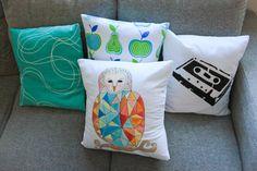 RETRO-pasteller Throw Pillows, Retro, Home, Toss Pillows, Cushions, Ad Home, Decorative Pillows, Homes, Decor Pillows