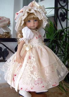 """""""VIctorian"""" from Little Charmers starting at $125.00, ends 9/28/14. Dress, apron, hat, slip and pantalettes. SOLD for $148.50"""