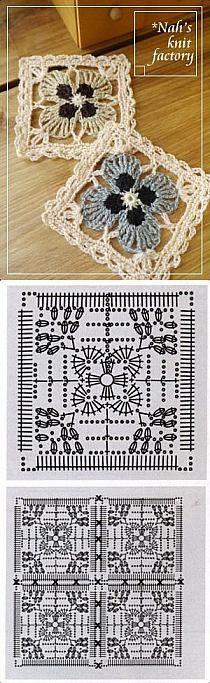 Transcendent Crochet a Solid Granny Square Ideas. Inconceivable Crochet a Solid Granny Square Ideas. Motifs Granny Square, Crochet Motifs, Granny Square Crochet Pattern, Crochet Blocks, Crochet Diagram, Crochet Chart, Crochet Squares, Crochet Doilies, Crochet Flowers
