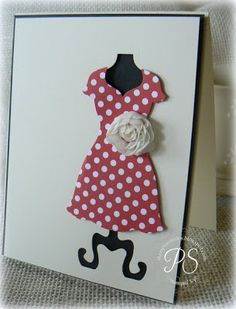 all dressed up - love this die cut!stampsnsmiles.blogspot.com