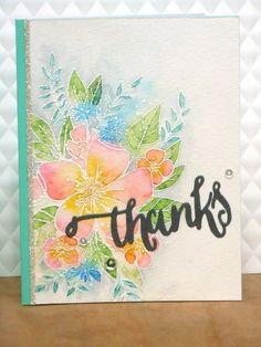 """I recently used up almost all of my stash of thank you cards, so I'm trying to build it up again. I also recently got the """"Hello Lovely"""" st..."""