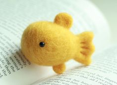 needle felted goldfish - good luck and wishes for prosperity in Asia...