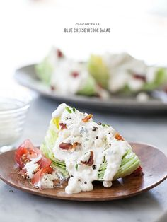 Classic Blue Cheese Wedge Salad Recipe and Dole Salad Farm Tour   foodiecrush @Heidi Haugen Haugen   FoodieCrush