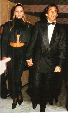 Ayrton Senna e Adriane Galisteu, Monte Carlo, Mônaco, 1993.