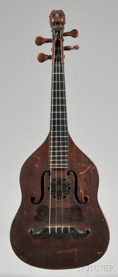 Brescian Mandolin, Gioffredo Rinaldi, Turin, 18...7, labeled ...MARENGO RINALDI SUCC. GIOFFREDO RINALDI CORINO FECIT 18...1, length of back 11 1/4 in.