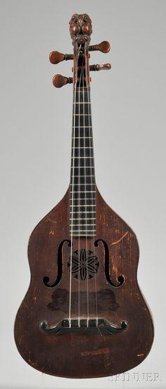 Brescian Mandolin, Gioffredo Rinaldi, Turin, 18...7,labeled ...MARENGO RINALDI SUCC. GIOFFREDO RINALDI CORINO FECIT 18...1, length of back 11 1/4 in.