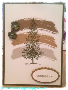 Lovely as a tree stamp set meets work of art. Both stampin up - but could do similar with CTMH new stamp set
