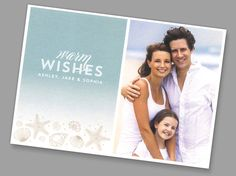 Kleinfeld Paper || Seaside Wishes Holiday Photo Card