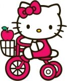 Hello Kitty Tricycle Tattoo