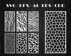 Natural Pattern / Panel Templates / Vector File. The best image 1