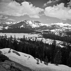 HOME! Yep...I'm homesick. We walked across Silver Lake (middle left of picture)during the winter one year! Pioneer, California