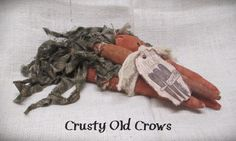 Prim Carrots by CrustyOldCrows on Etsy