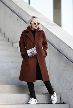 outfit: oversized wool coat