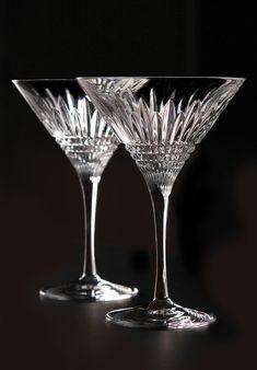 Waterford Lismore Diamond Martini, Pair