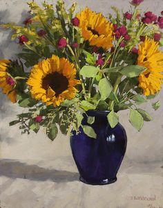 Sunflowers And Clover Canvas Print / Canvas Art by Sarah Blumenschein
