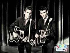 """The Everly Brothers """"Wake Up Little Susie"""" on The Ed Sullivan Show  - with a live back up band - 1957 -  had to like this one - everyone was playing and singing it to me since I had Susie for my nickname - I had some wicked off-takes of the words to this from some of the older teens I surfed with!"""