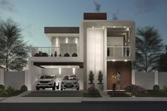 Modern Bungalow Exterior, Modern Exterior House Designs, Modern House Design, Living Room Tv Unit, Duplex House Design, Canopy Bedroom, My Dream Home, House Plans, Facade