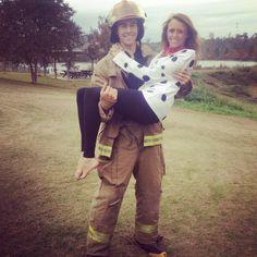 Fireman and his Dalmatian! Halloween 2013