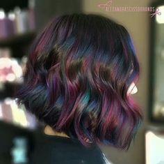 Dark rainbow hair ♡♡♡♡